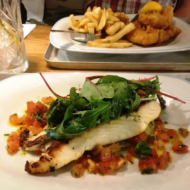 Charcoal Grilled Wild Cod and Haddock Goujons - lunch menu