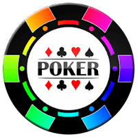 colored and black poker chip