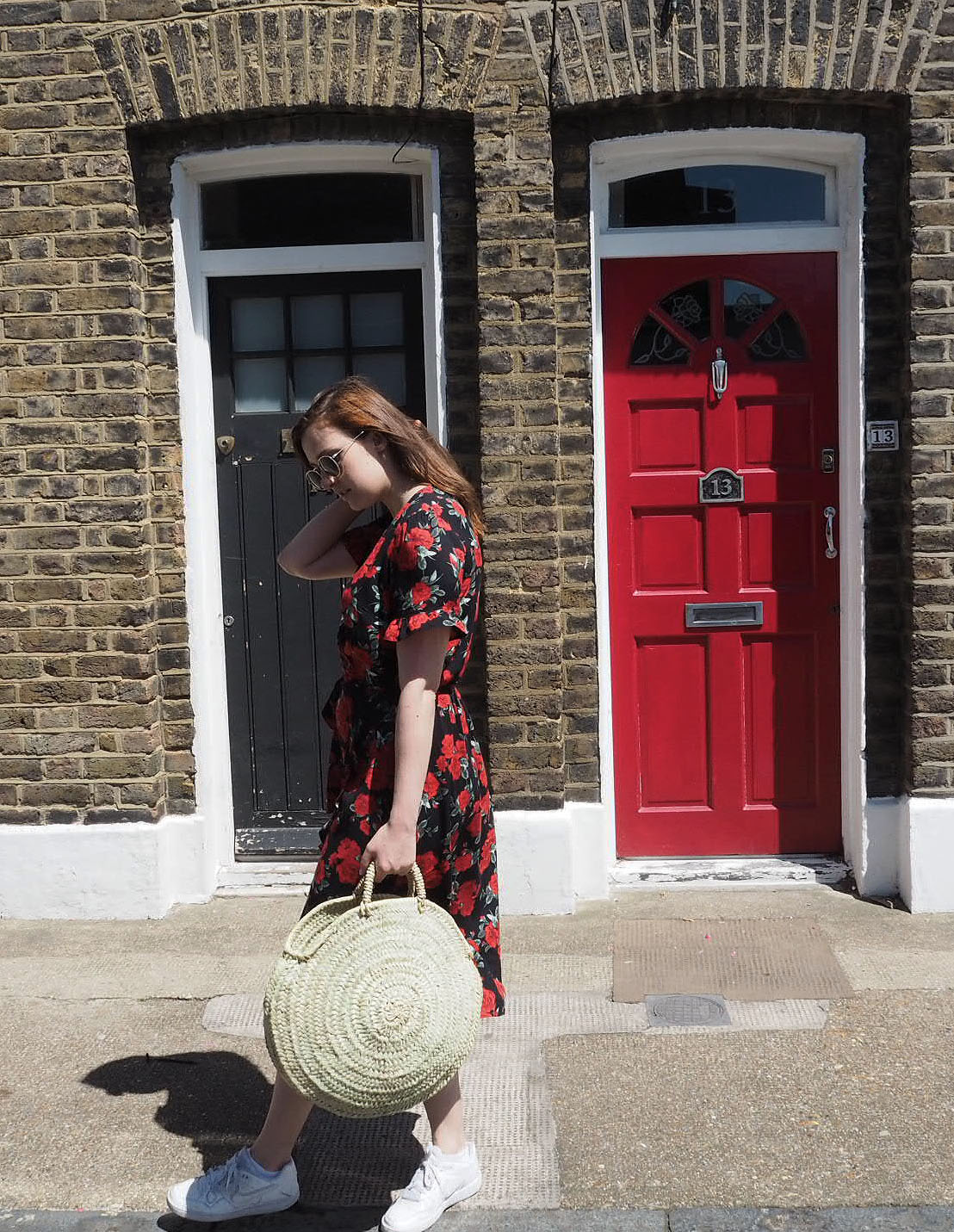 Lauren Rose Style // Floral Primark Dress & Bohemia Design Circle Basket Bag // Summer Street Style London Blogger