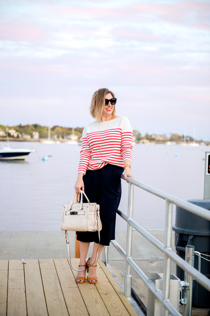 nautical stripes and culottes