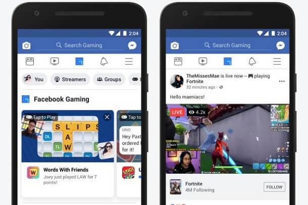 تطبيق فيس بوك يحصل على علامة تبويب جديدة للألعاب في شريط التنقل