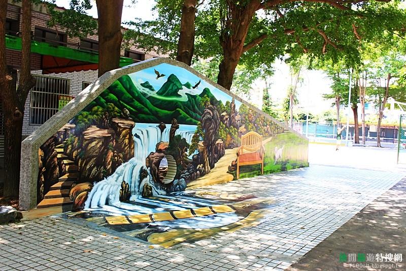 [臺灣.苗栗] 頭份忠孝公園也有3D立體彩繪牆