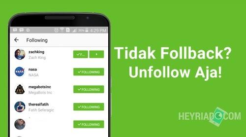 Cara Unfollow Instagram yang Tidak Follback