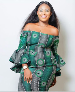 Simple Ankara Off-Shoulder Gown Styles You will Love