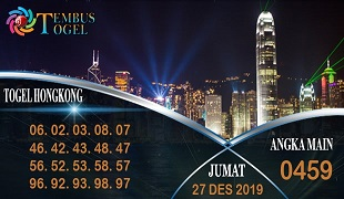 Prediksi Togel Angka Hongkong Jumat 27 Desember 2019