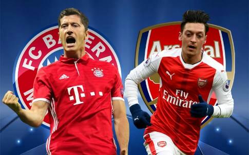 Bayern x Arsenal (15/02/2017) - Prognóstico, horário e TV (Champions League)'' id=