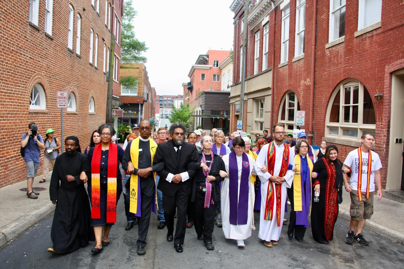 Clergy peaceful presence at the Charlottesville rallies