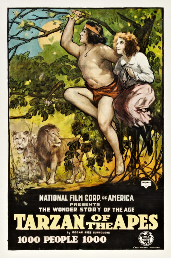 Tarzan of the Apes poster 1918 - 2