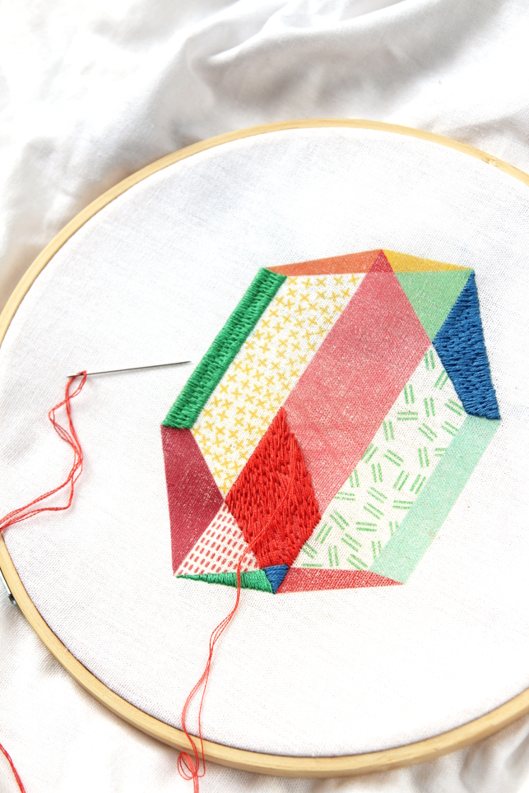 DIY EMBROIDERED WALL ART.