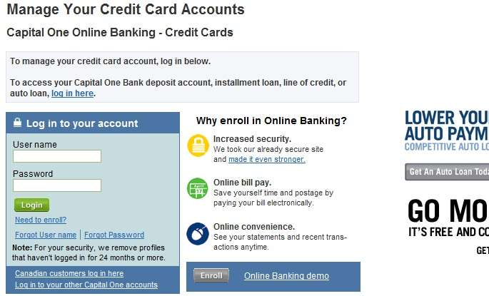 Capital One Credit Card Online Payment Login >> Capital One Capital Credit Card