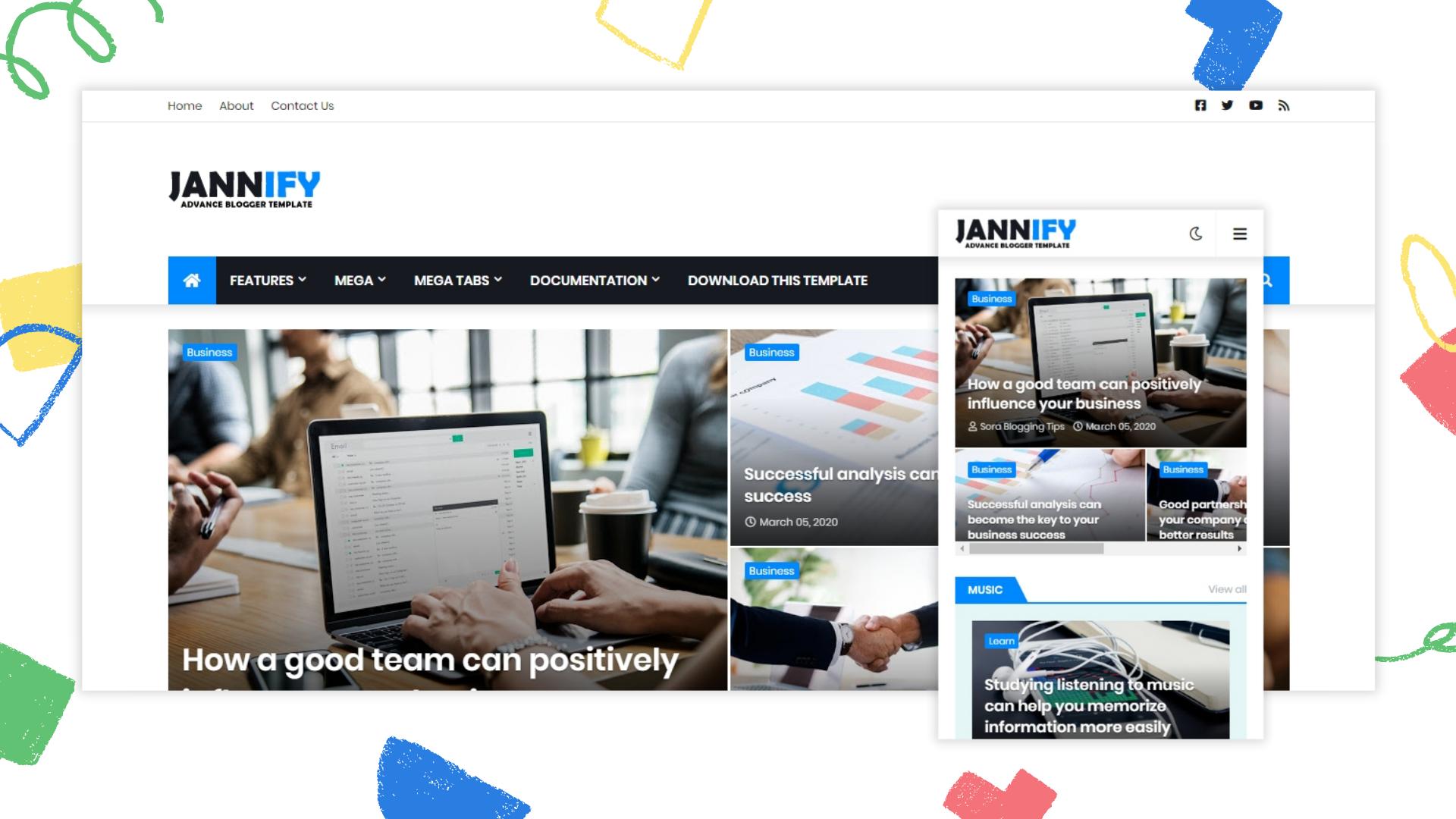 jannify-responsive-blogger-template
