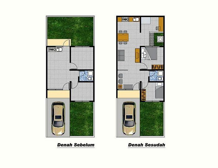 denah rumah minimalis 2 lantai type 36 yang bagus