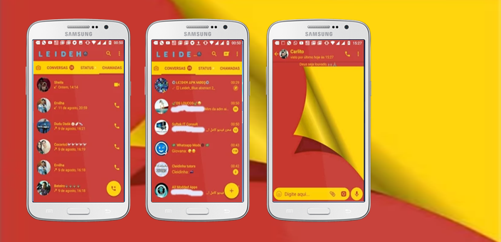 Tema GBWhatsapp - Red And Yellow