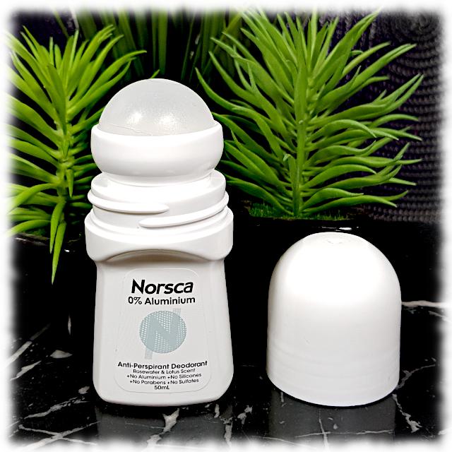 Norsca Anti-perspirant Deodorant - Rosewater & Lotus Scent, cap off