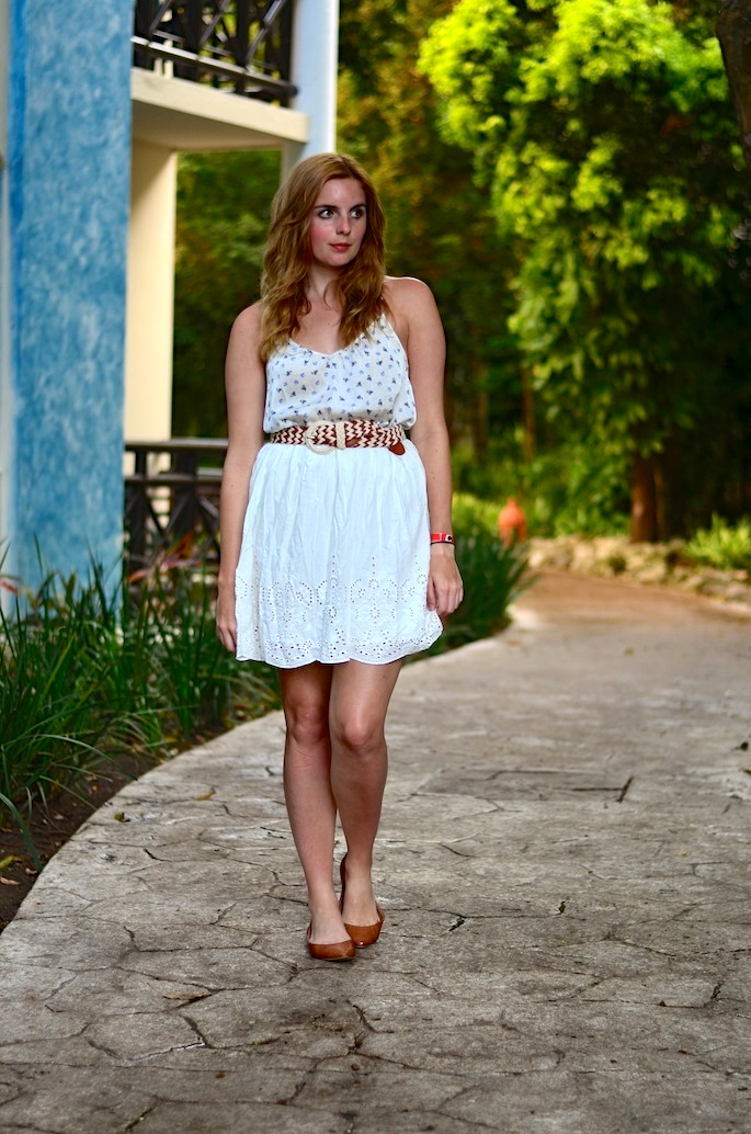 White Eyelet Temperance Collection Skirt