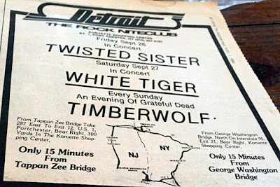 Detroit rock club in Port Chester, New York 1980