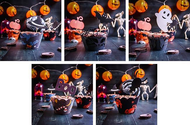 déco halloween muffins