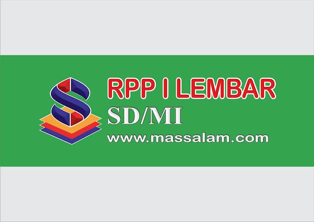 Download RPP 1 Lembar K13 SD dan MI 2021/2022 Revisi Terbaru