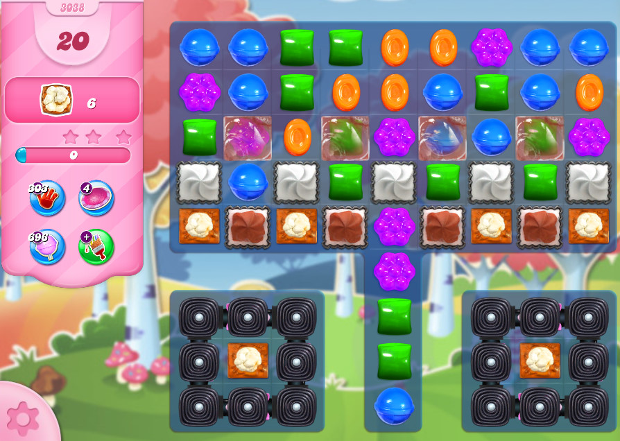 Candy Crush Saga level 3038