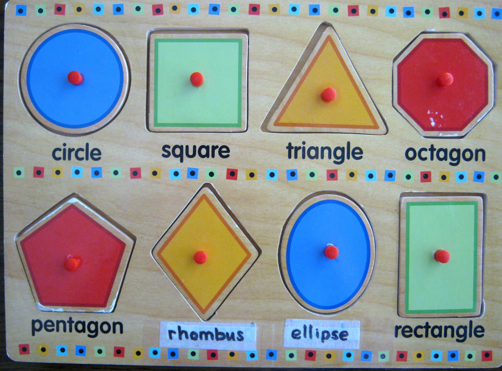 Absorb This Montessori: Ellipse & Rhombus Masquerading as ...