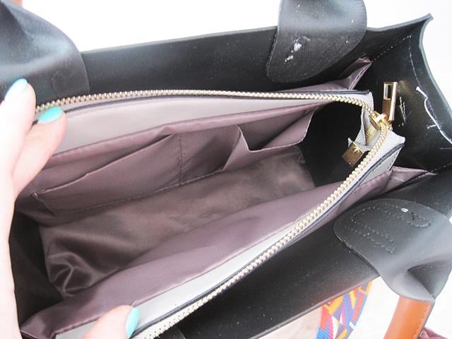 af41de3db5f84 Wiosenne torebki z Zaful - szara torebka z kolorowym paskiem i ...