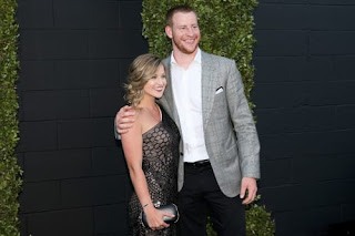 Carson Wentz With His Wife Madison Oberg