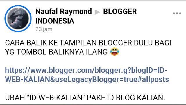 cara kembali melihat versi lama blogger