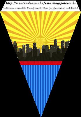 Banderines de Super Héroes para imprimir gratis.
