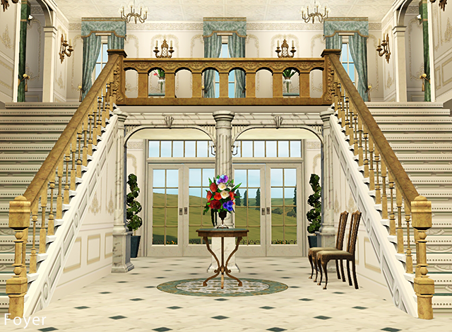 my sims 3 blog chateau de bellevue by petalbot. Black Bedroom Furniture Sets. Home Design Ideas