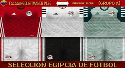 PES 6 Kits Egypt National Team World Cup 2018 by FacaA/Ngel