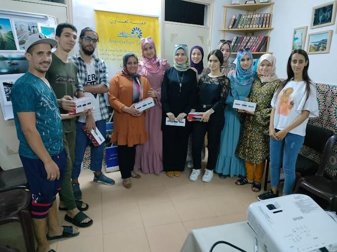 تتويج المشاركين بنادي السمعي البصري لجمعية تعاون الثقافية