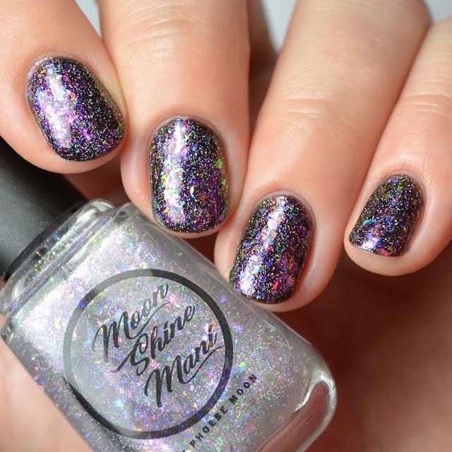 rainbow flakie shimmer nail polish topper