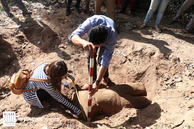Ancient statue found in Cambodia's Siem Reap