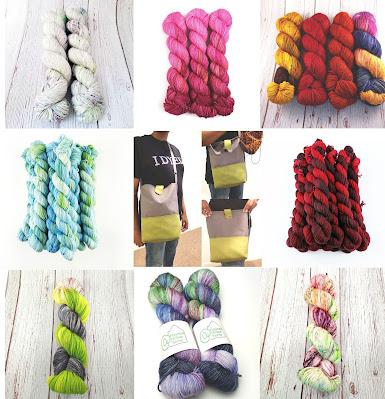 variegated yarns and bag