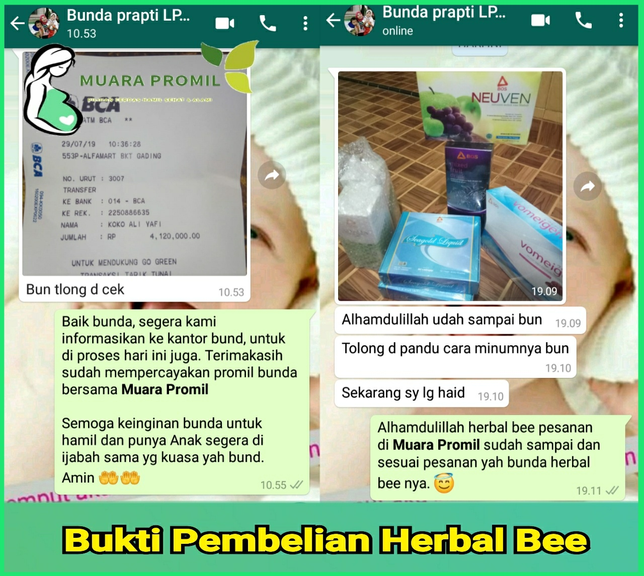 Bukti Penjualan Herbal Bee di lombok