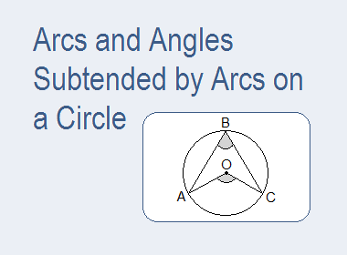 Arcs and Angles Subtended by Arcs on a Circle