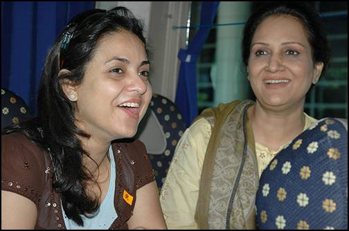 Nadia Khan with Bushra Ansari