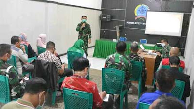 Kodim 0707 Wonosobo Rakor Pembukaan TMMD Sengkuyung Tahap III 2021