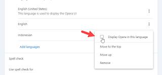 mengganti bahasa opera browser