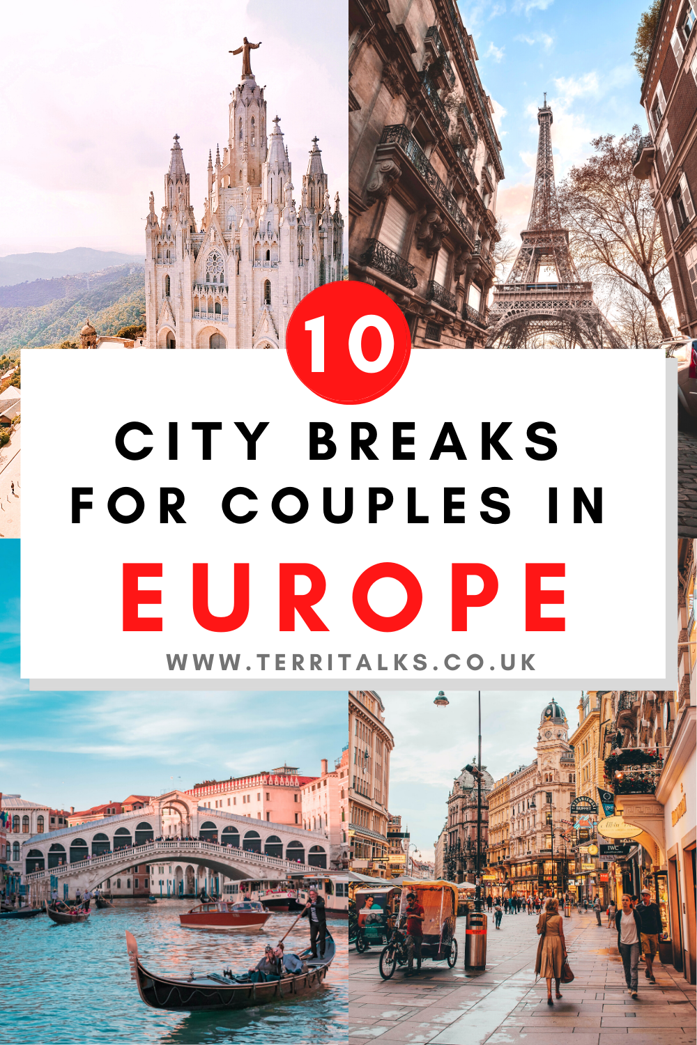 Pinterest Graphic for 10 City Breaks in Europe for Couples