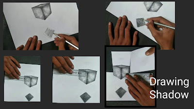 How to draw square, square pencil drawing with pencils, step by step tutorial for to draw square