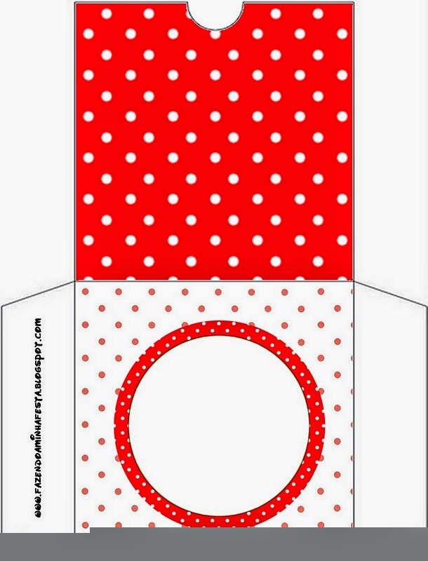 Red and White Polka Dots CD Case.