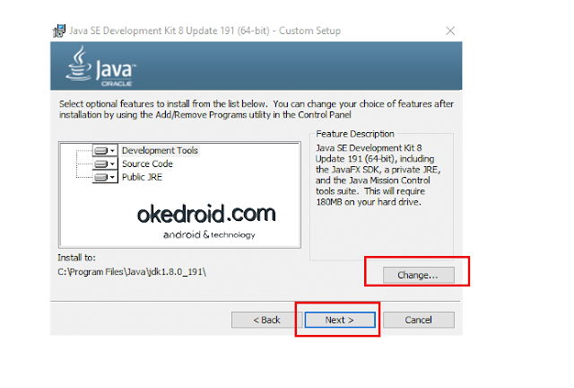 Mengubah lokasi folder java jdk windows 10