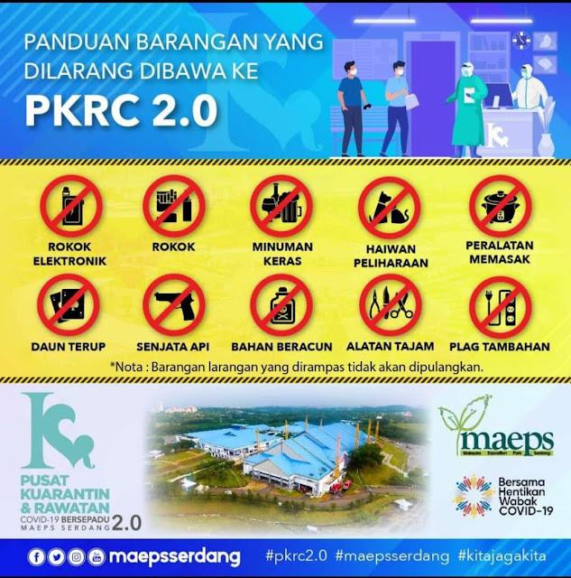Apakah Yang Perlu Dibawa Jika Ditahan Di PKRC 2.0, MAEPS Serdang?