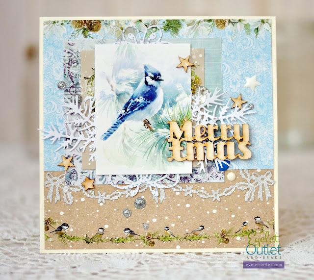 Merry Christmas card @akonitt #card #by_marina_gridasova #christmascard #holidaycard #scrapberrys #ikropka #chipboard #enameldots