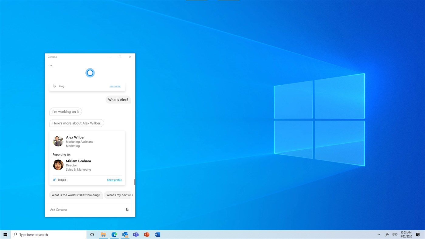 La nuova Cortana per Windows 10 esce dalla fase Beta