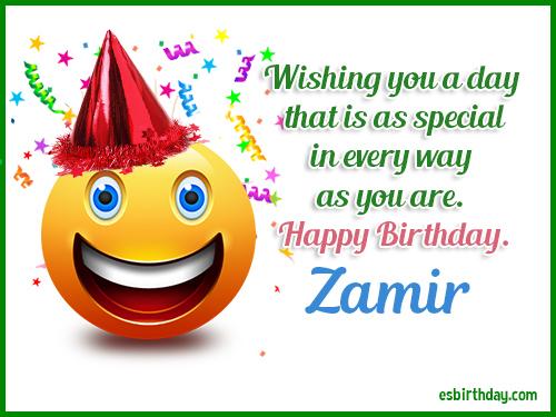 Zamir Happy birthday