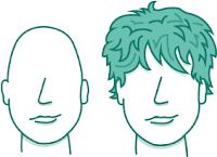 potongan rambut pria untuk wajah segitiga