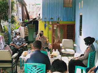 Dialog Kamtibmas, Kapolres AKBP Kadarislam Sambangi Warga Tamalabba Terkait Prokes