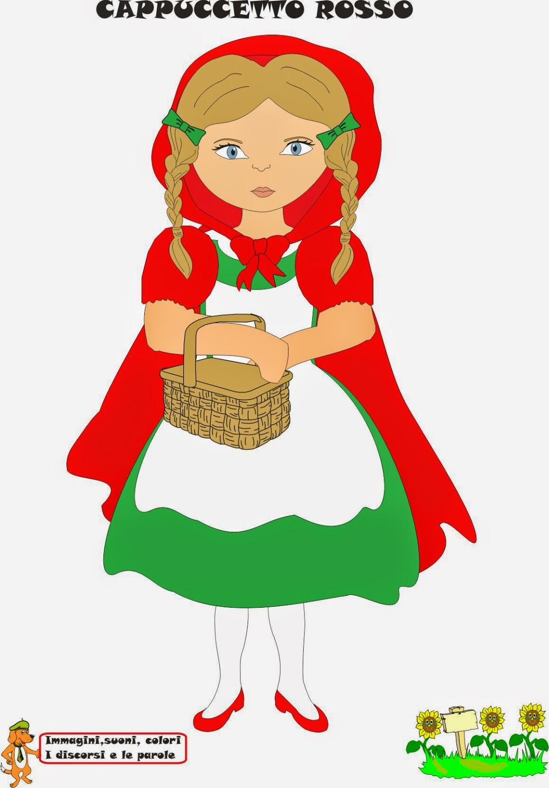 Immagini di cappuccetto rosso da colorare for Cappuccetto rosso da colorare